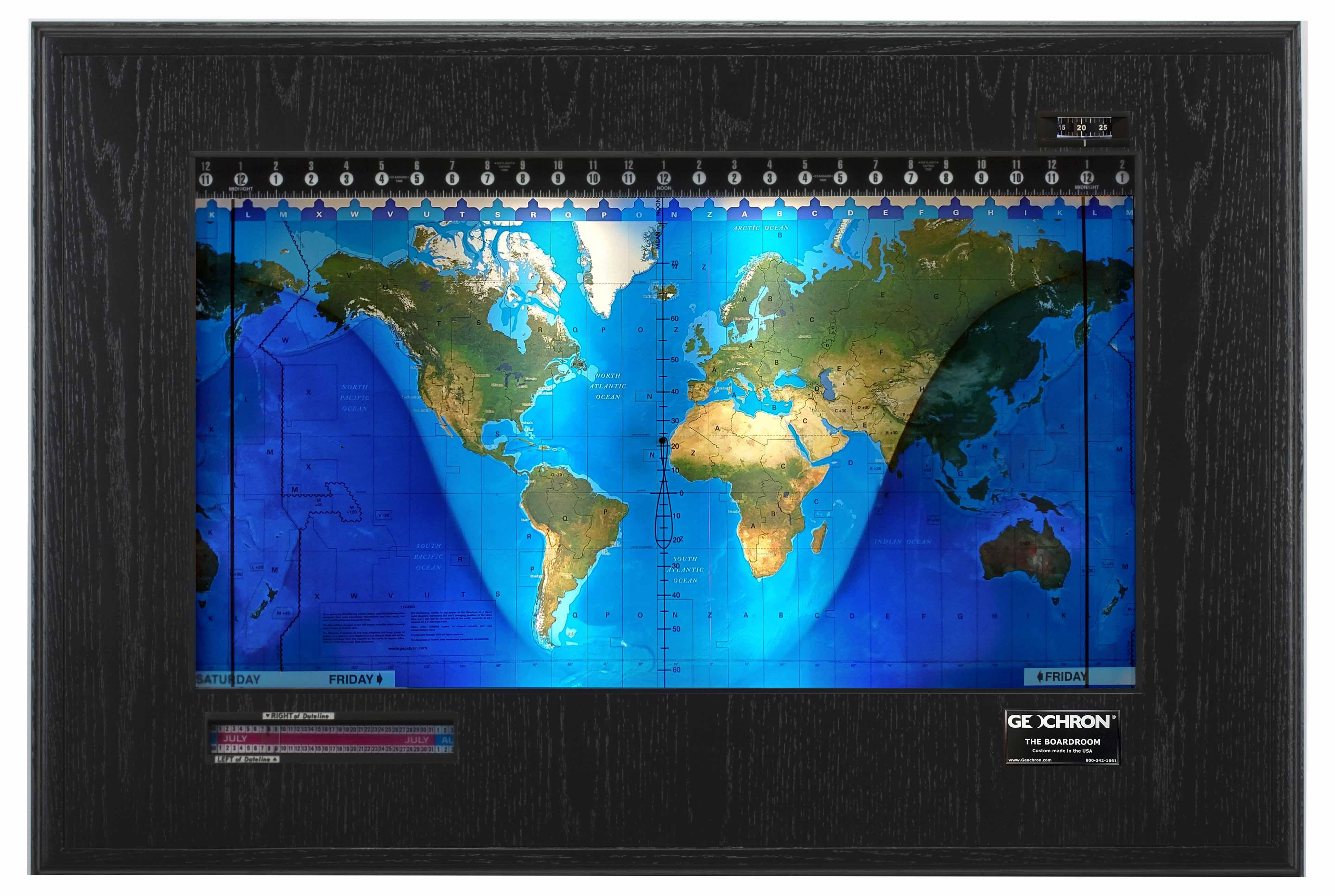 Topographical Boardroom Black Oak-black web