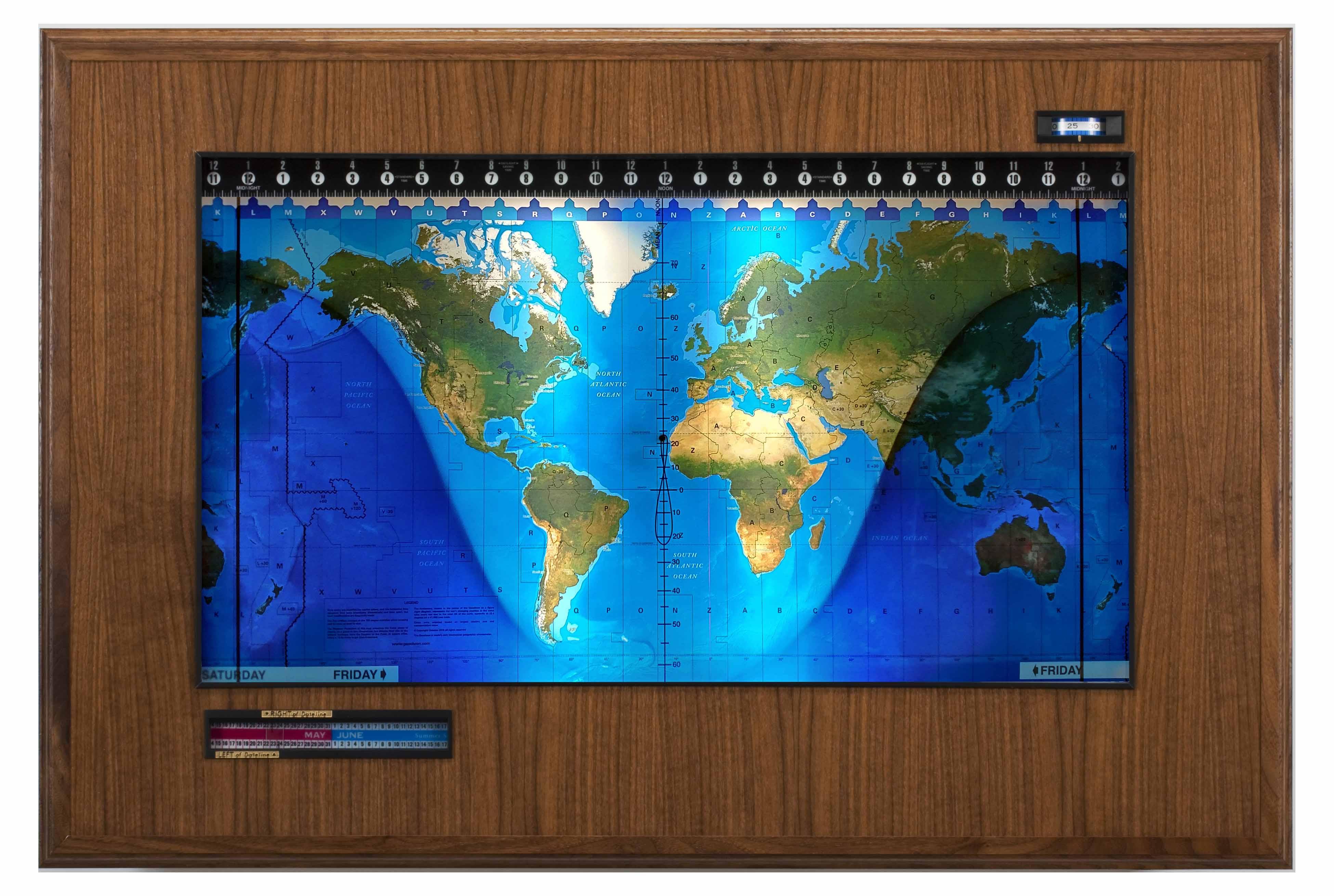 Topographical Boardroom Walnut-black web