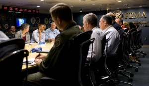 The FEMA Situation Room.