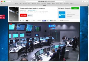 European Space Agency control room