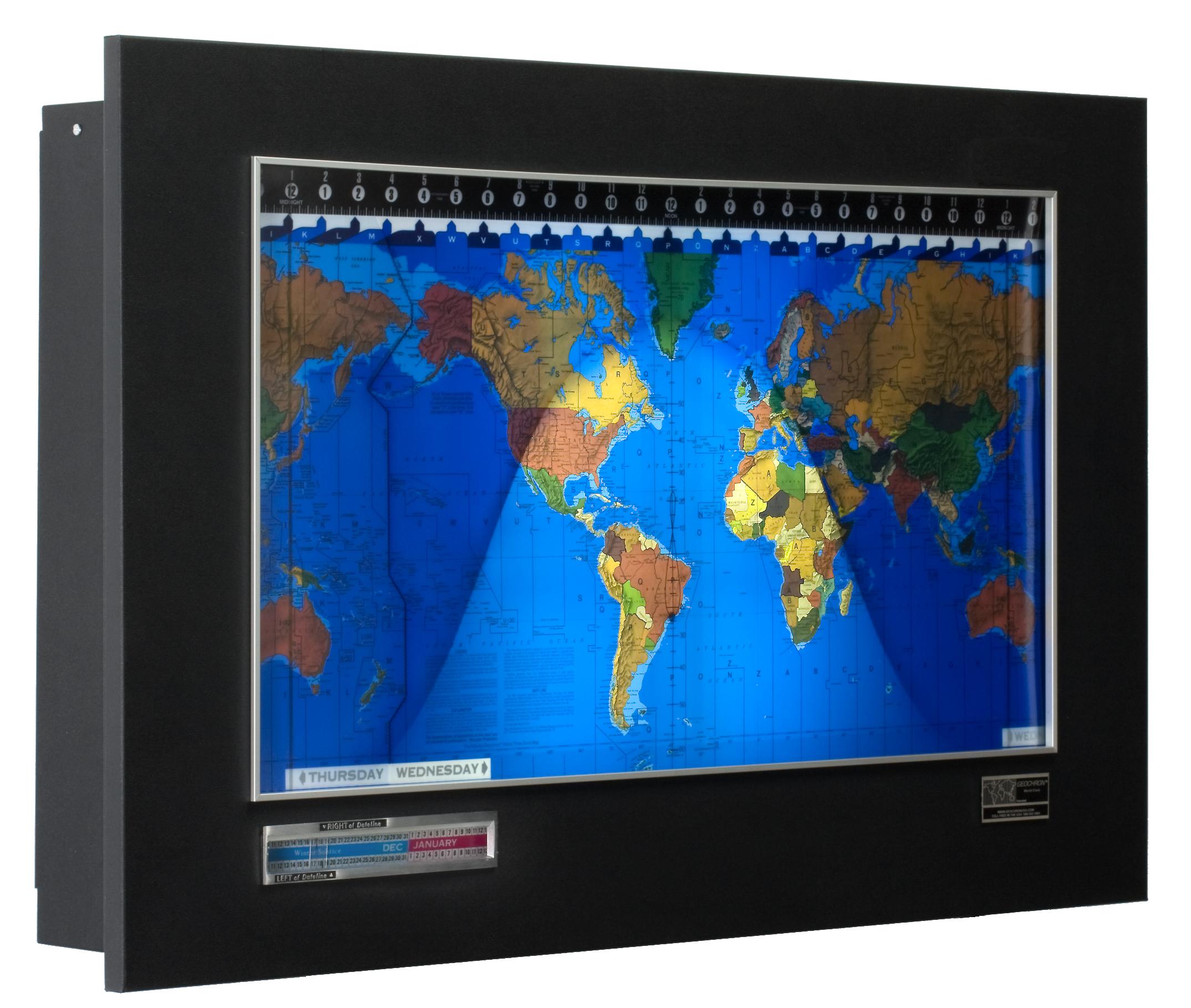 The geochron world clock for ham radio geochron standard with blacksilver panel gumiabroncs Image collections
