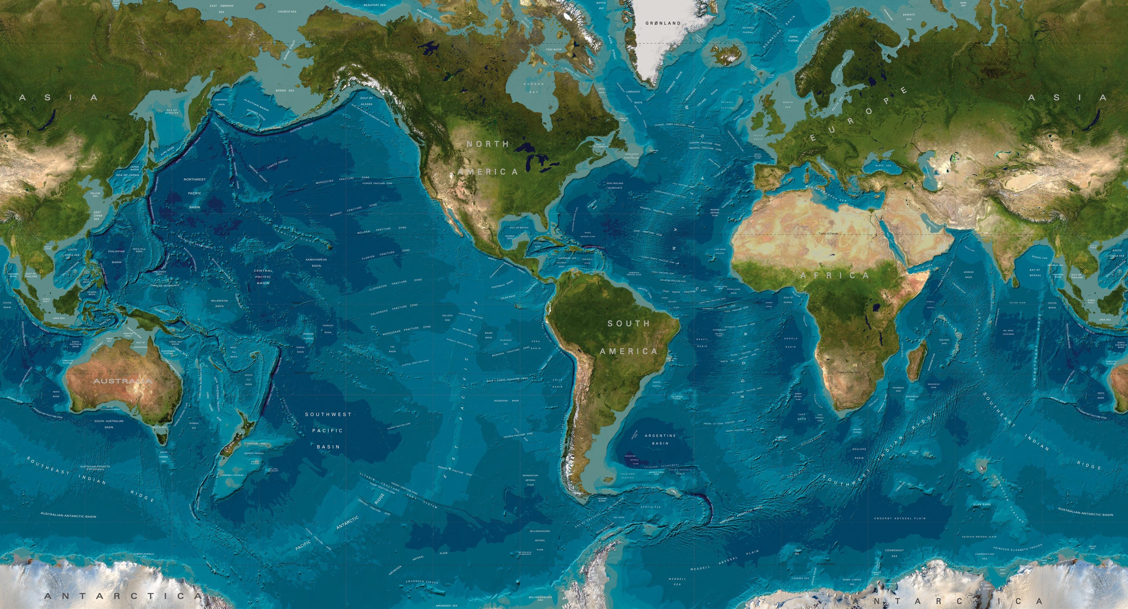 topographic map of earth nasa - photo #17
